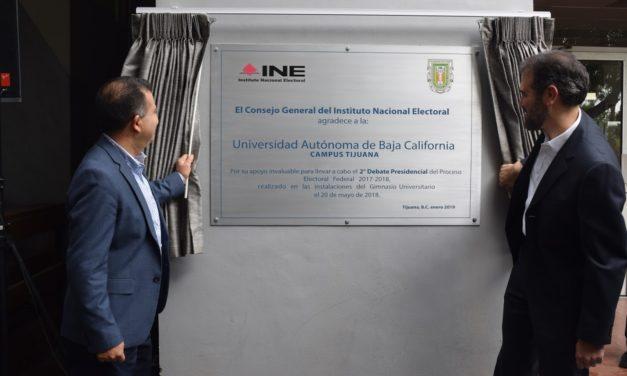 Reconoce INE a UABC por su participación en el Segundo Debate Presidencial