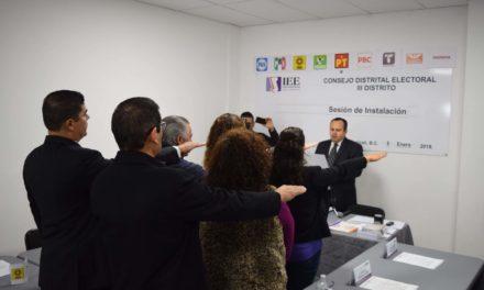 Inicia IEEBC instalación de consejos distritales previo a las elecciones