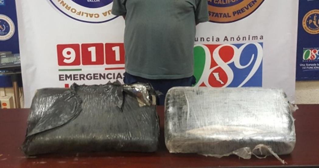 Detiene PEP a sujeto en posesión de más de 9 kilos de marihuana