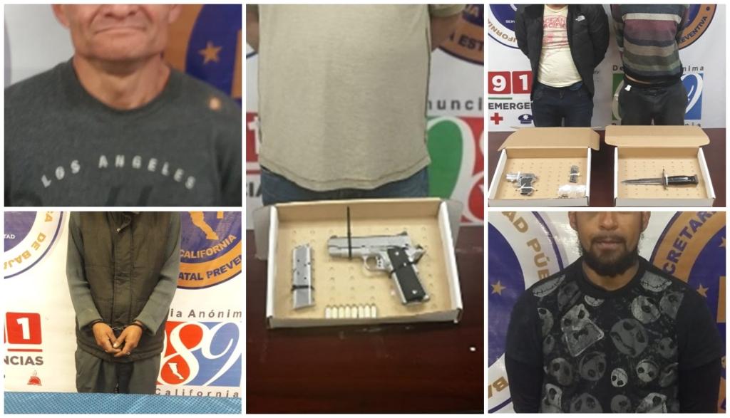 Arrestan a 6 presuntos delincuentes en diferentes redadas de la PEP