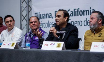 PRD, PBC y PES firman coalición e irán con Leyzaola en Tijuana