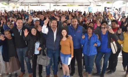 Entrega SEDESOE apoyos sociales a familias del poblado Los Algodones