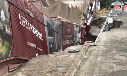 Movimientos de tierra y agua provocaron socavón en La Gran Torre: Alcalde