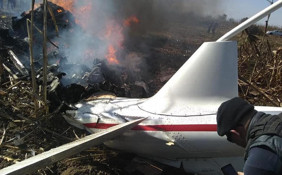 Enviarán a Canadá motores de helicóptero que se desplomó en Puebla