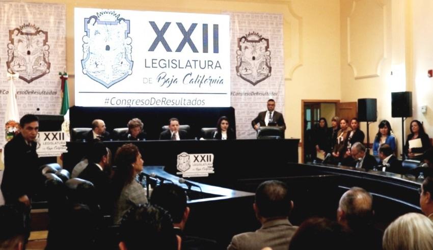 Celebra XXII Legislatura sesión solemne por aniversario de BC