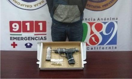 Arrestan a sujeto en posesión de arma de fuego en colonia Del Prado