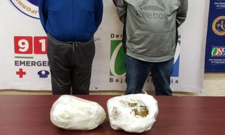 Detiene PEP a dos sujetos que transportaban marihuana en colonia Orizaba