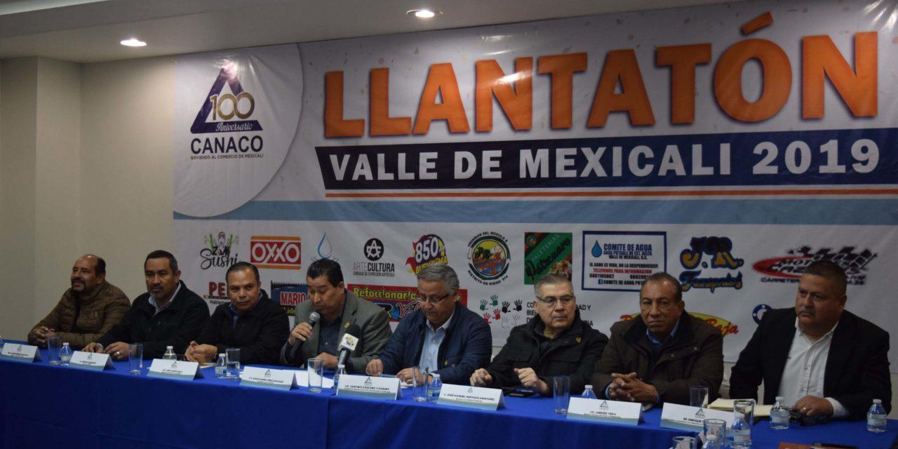 """Llevarán """"Llantatón"""" al Valle de Mexicali del 22 al 24 de febrero"""