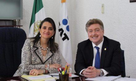 Se reúne Gobernador de BC con la titular del SAT, Margarita Ríos Farjat