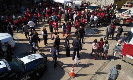 Realizan autoridades Feria de Seguridad en Secundaria 18 de Marzo