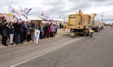 Inicia obra de pavimentación en el bulevar Macristy de Hermosillo