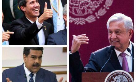 Ofrece AMLO a Maduro y Guaidó diálogo pacífico en México