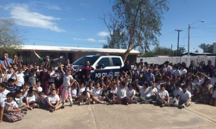 """Concluye PEP programa """"Niño Seguro"""" en escuelas y colonias de Mexicali"""