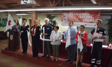 Dan banderazo Cruz Roja y UABC a colecta nacional en Mexicali