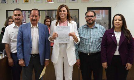 Registran a Marina del Pilar como aspirante a la alcaldía de Mexicali