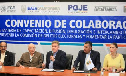 Colaborarán Estado y FEPADE para prevenir delitos electorales