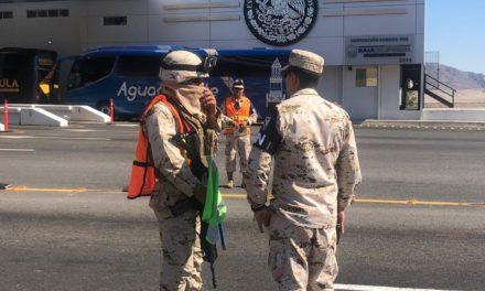 Llegan elementos de la Guardia Nacional a BC