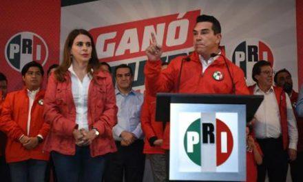 Alejandro Moreno se declara ganador de la presidencia nacional del PRI