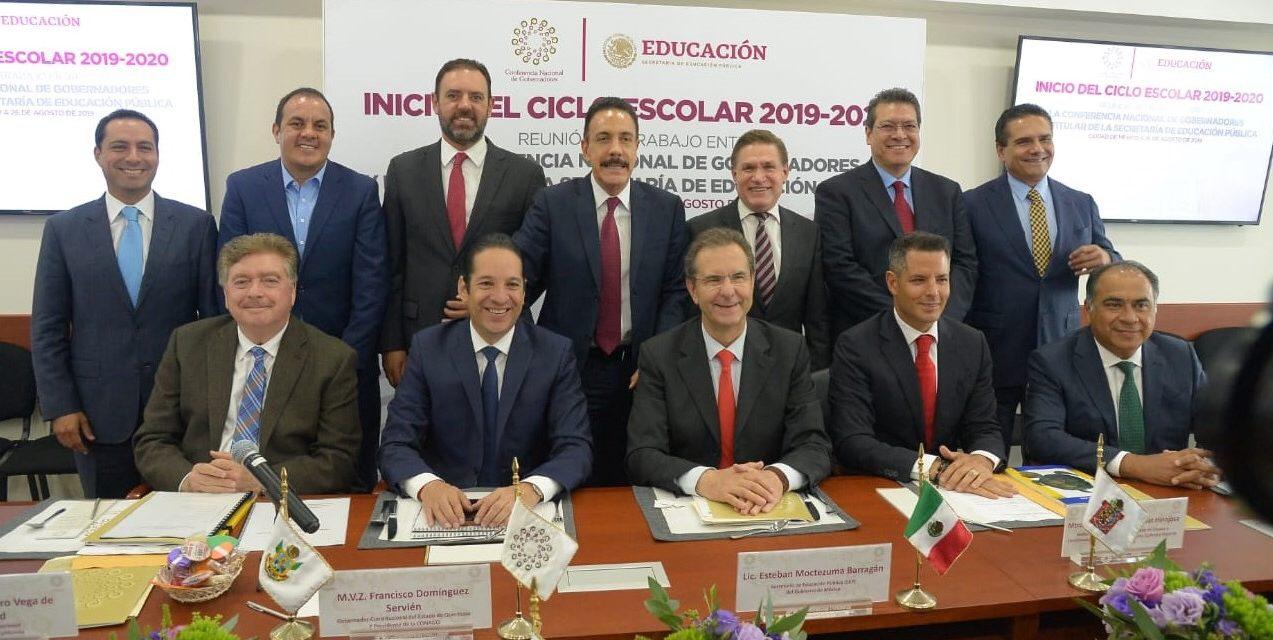 Se reúne gobernador Vega con Secretario de Educación Pública