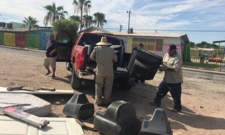 Retira Servicios Públicos Municipales enseres domésticos en distintas colonias