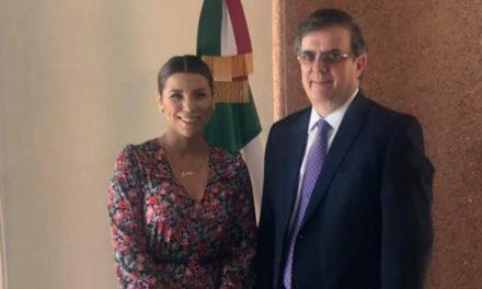Se reúne alcaldesa electa con el canciller Marcelo Ebrard
