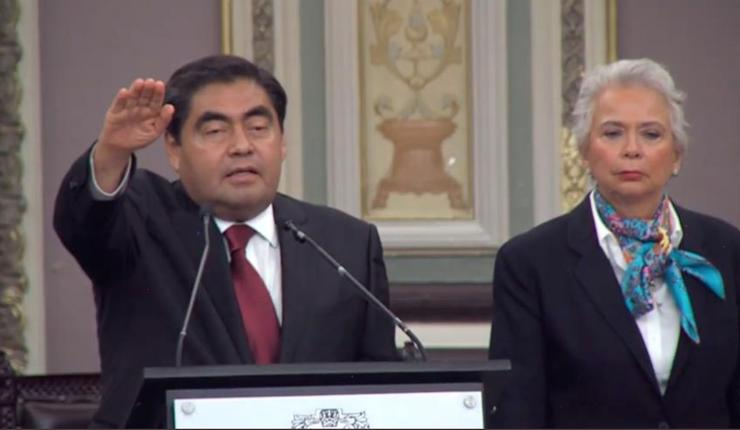 Miguel Barbosa rinde protesta como gobernador de Puebla