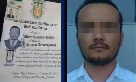 Detienen a sujeto por utilizar título falso para tramitar visa