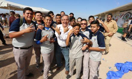 Entrega alcalde construcción de aulas en el ejido Sinaloa