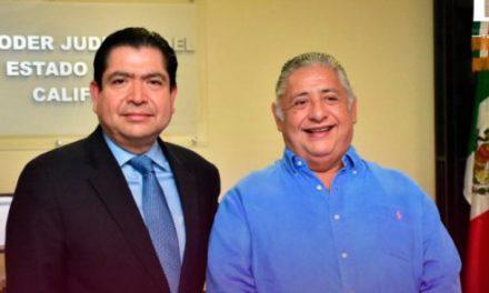 Se reúne Amador Rodríguez con presidente del Poder Judicial del Estado