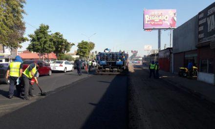 Obra de rehabilitación de boulevard Benito Juárez lleva un avance de 72%