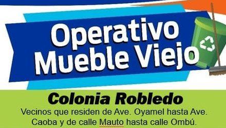 """Operativo """"Mueble viejo"""" será en la colonia Robledo"""