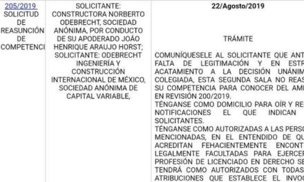 Desecha SCJN analizar sanciones de SFP a Odebrecht