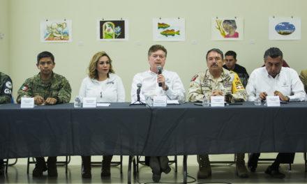 Encabeza gobernador reunión del Consejo Estatal de Protección Civil por incendios forestales