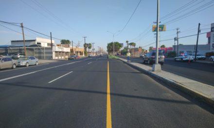 Concluye rehabilitación del boulevard Benito Juárez