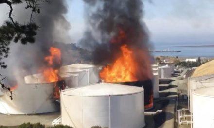 Se incendia refinería de California; varios tanques explotaron