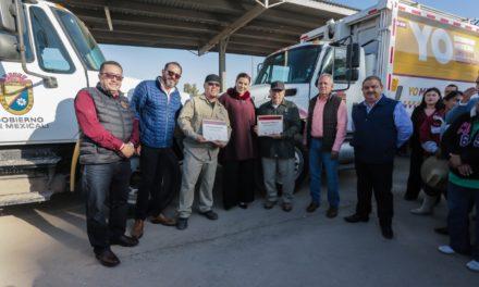 Alcaldesa reconoce labor de trabajadores de Servicios Públicos Municipales