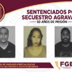 Logra Fiscalía sentencia de 50 años de prisión contra tres secuestradores