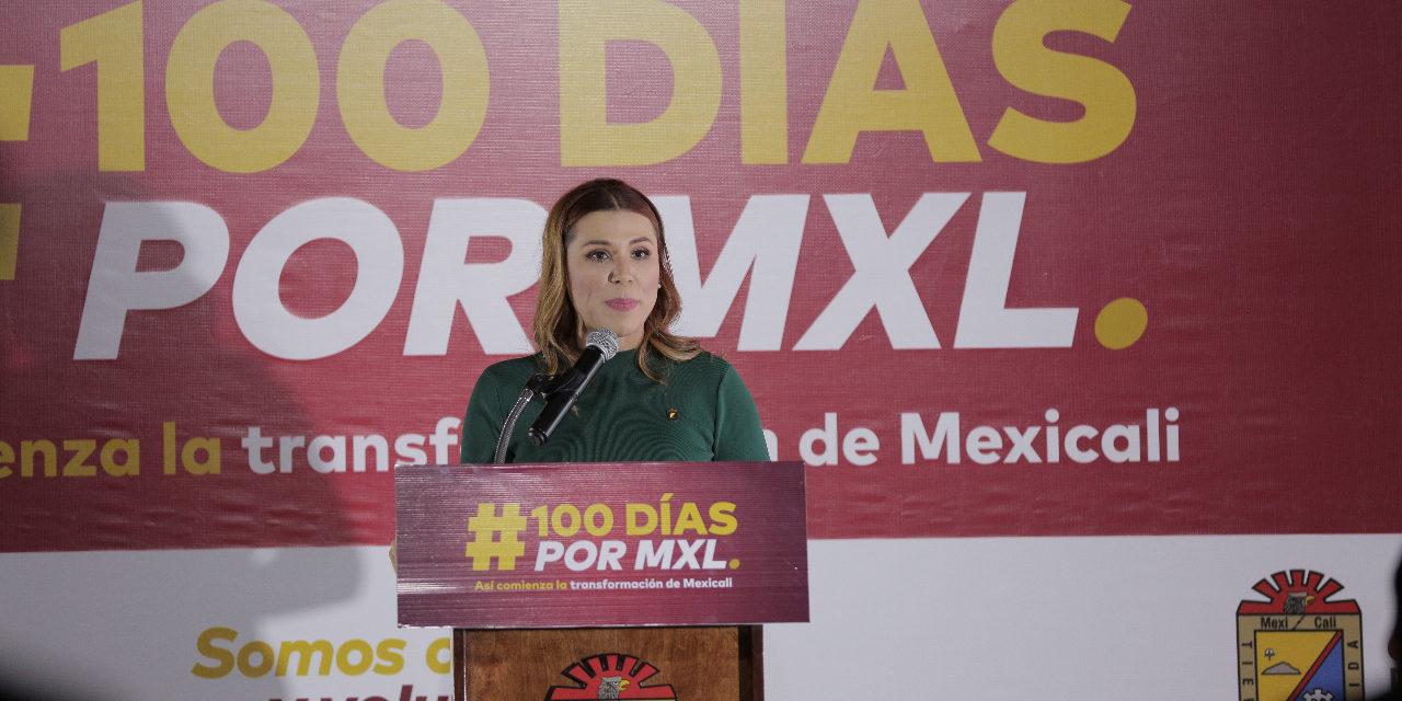 Presenta Alcaldesa informe a 100 días de gobierno